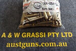 22/250 REM ONCE FIRED BRASS....USED!!